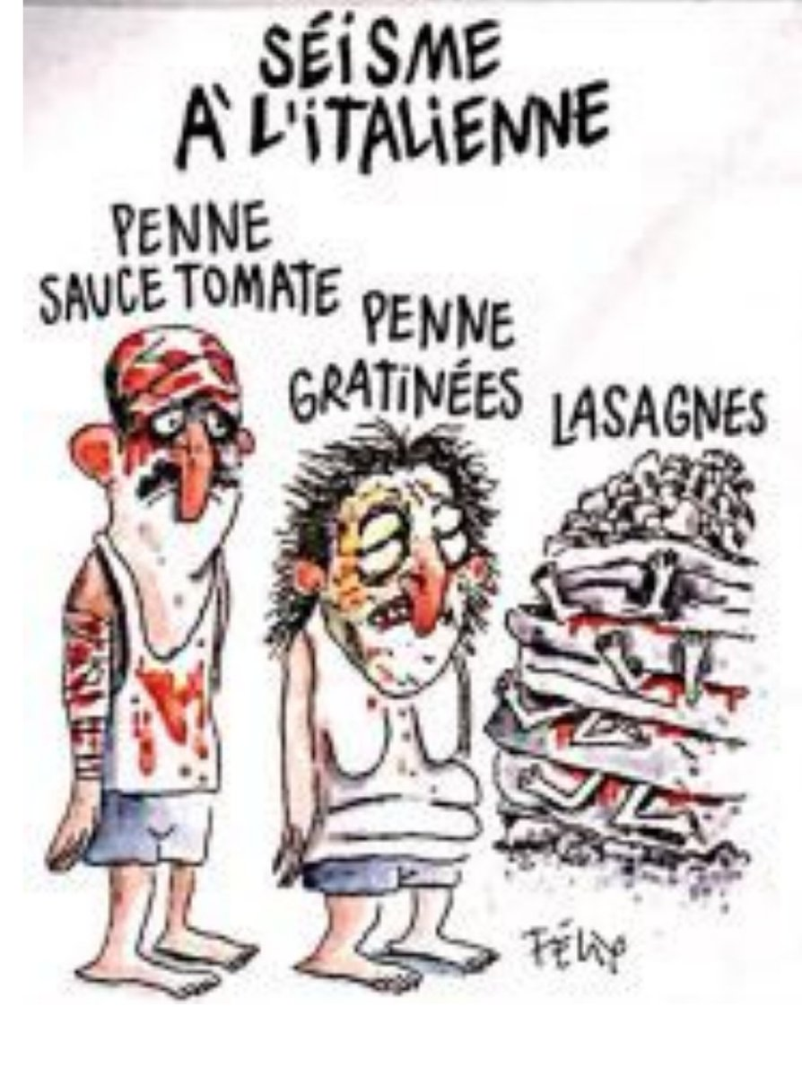 Italian Fury Over Charlie Hebdo Quake Cartoon Showing Victims As Pasta